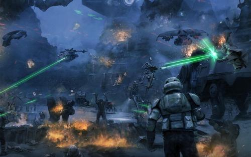 Star Wars wallpaper titled The Battle of Kashyyyk (2560/1600)