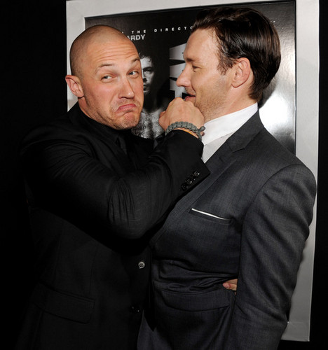 Tom Hardy,Joel Edgerton Red Carpet Premiere Warrior