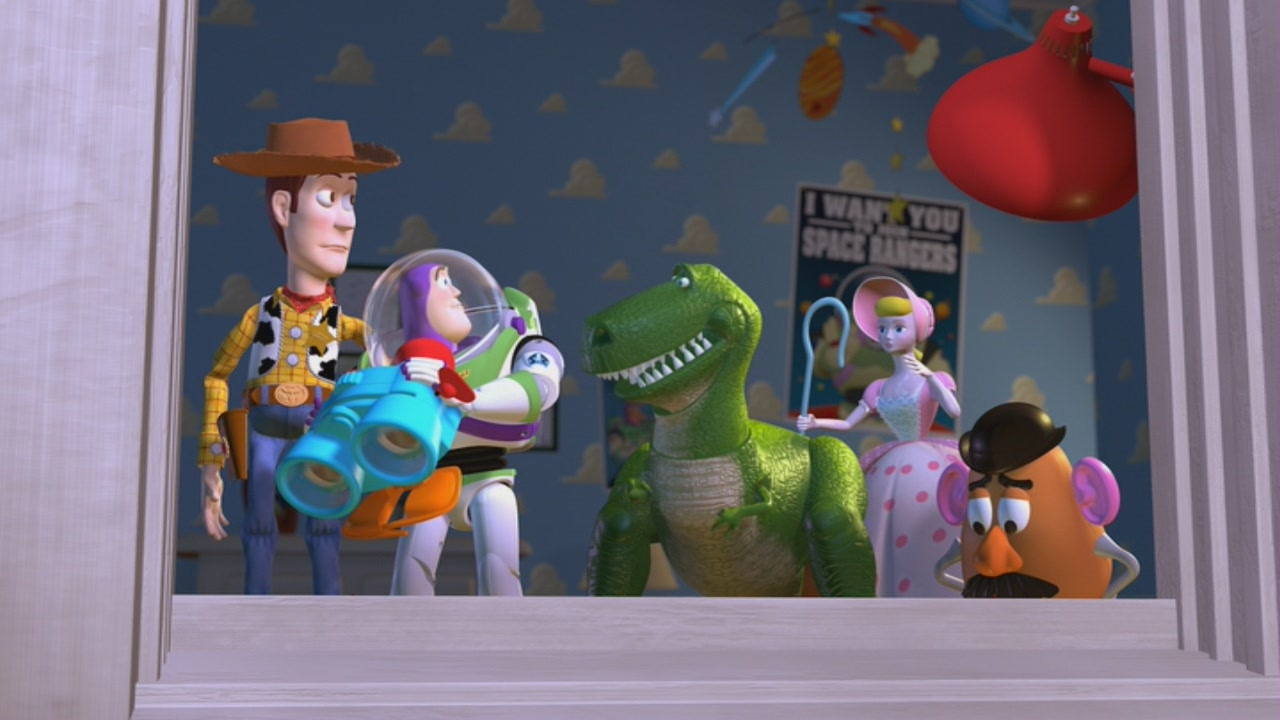 an analysis of the 1995 movie toy story 02april 2010 «toy story» is a 1995 animation cowboy-toy woody (voiced by tom hanks) feels threatened when overblown space ranger buzz lightyear (tim allen) arrives with a suitcase full of bells and whistles.