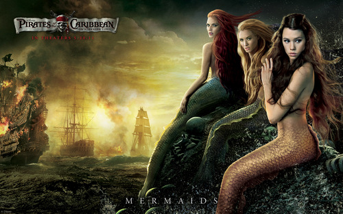 karatasi la kupamba ukuta Mermaids