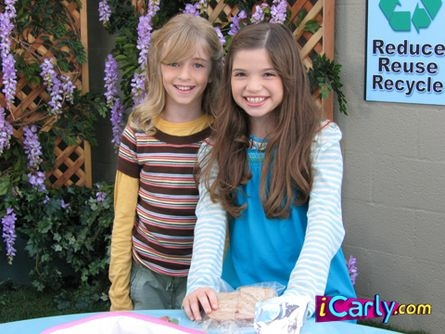 Young Carly & Sam in school