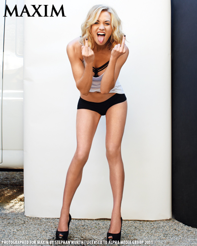 イヴォンヌ・ストラホフスキー 壁紙 possibly containing a swimsuit, attractiveness, and a ランジェリー titled Yvonne Strahovski Photoshoot for the October 2011 Issue of Maxim Magazine