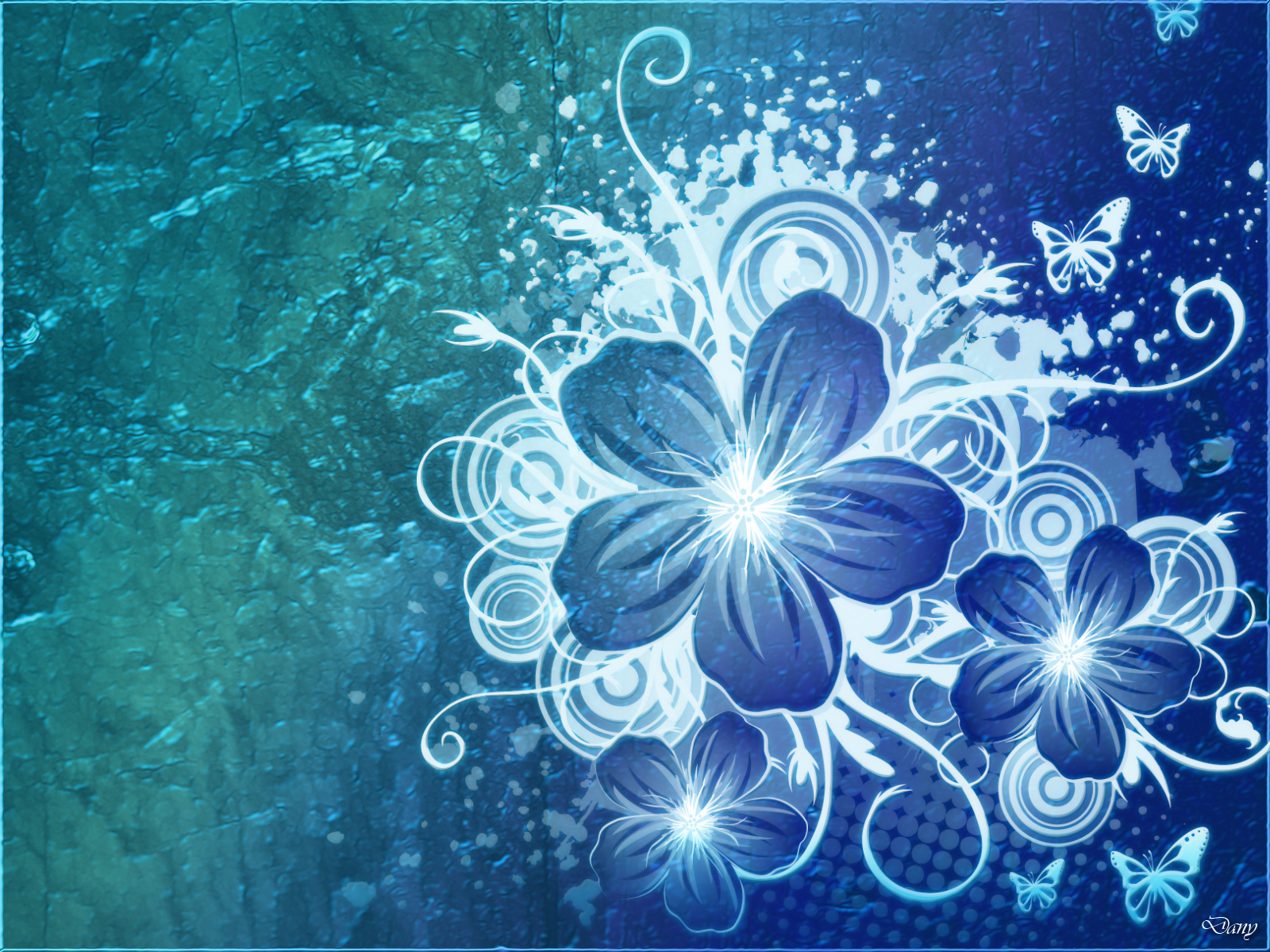 Cynthia selahblue cynti19 blue flower wallpaper