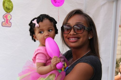 cayla at the birthday