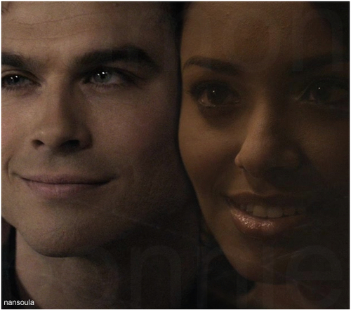 Damon & Bonnie wallpaper possibly with a portrait called damon bonnie