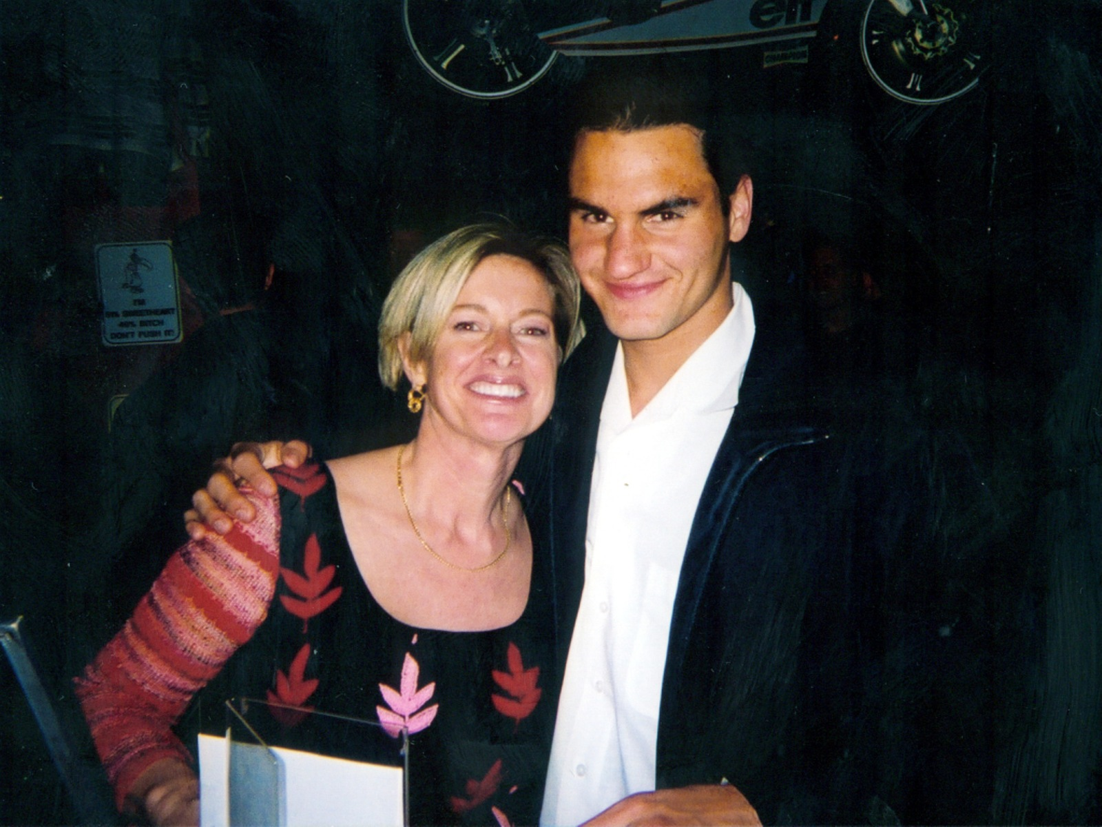 happy woman with rafa and roger