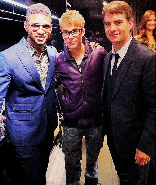 justin bieber at D&G fashion night out :)