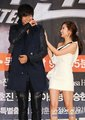lee min ho and park min young at city hunter press conference