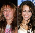 miley with out make up - miley-cyrus-vs-selena-gomez photo