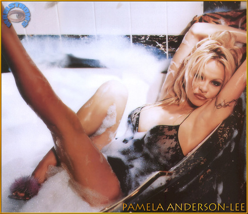 pamela in the bathtub!