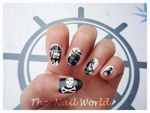 pirates of the caribbean nail art