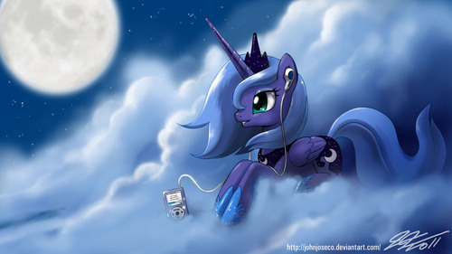 My Little pony Friendship is Magic achtergrond called princess luna