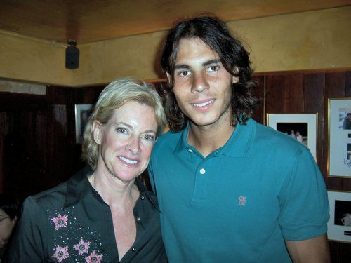 rafa nadal with blond women
