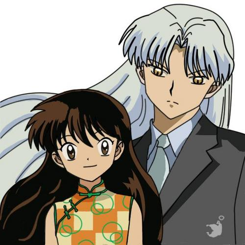 Sesshomaru and Rin wallpaper with anime entitled rin and sesshomaru