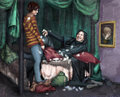 ! MAGIC PILLOW FIGHT ! - severus-snape fan art