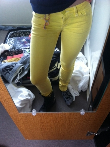 """My old Yellow pants!!"" -Hayley"