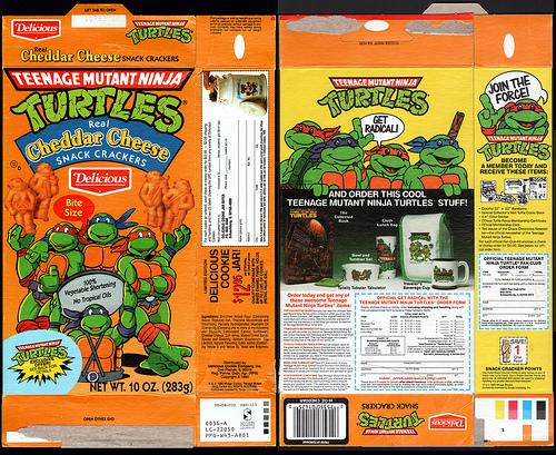 Ninja Turtles Cheese Crackers