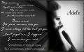 Adele- Someone Like te - wallpaper
