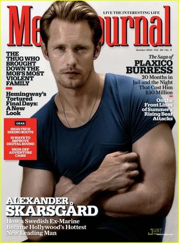 Alexander Skarsgard Covers 'Men's Journal' October 2011