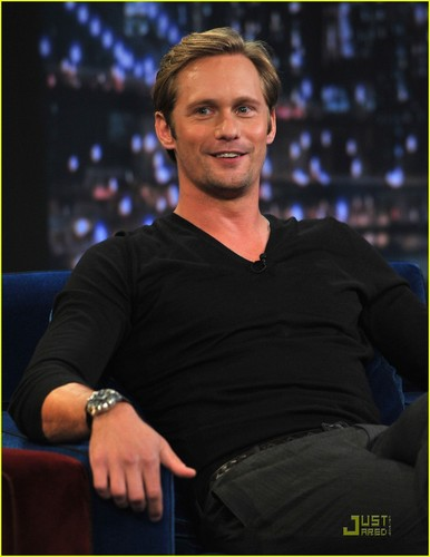 Alexander Skarsgard: 'Jimmy Fallon' & Mulberry Party!