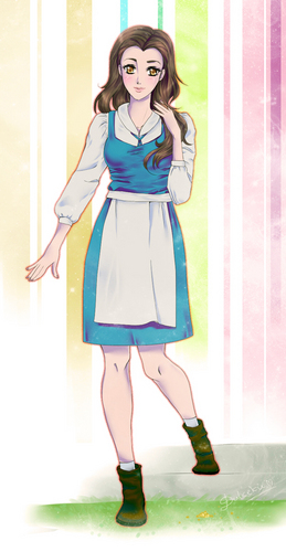日本动漫 version of Princess Belle