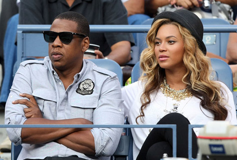 Beyoncé hình nền titled Beyoncé & Jay Z at the U.S. Open (September 12th)