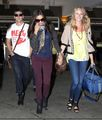 Candice arriving at LAX airport with her TVD co-stars! - candice-accola photo