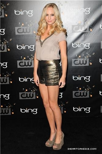 Cullensisters-X wallpaper entitled Candice looking gorgeous at the CW premiere party! ♥