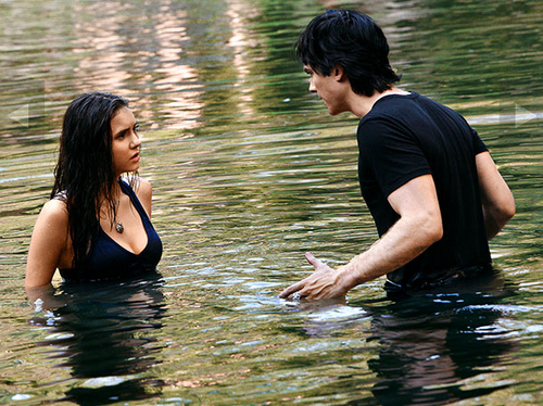 Damon and Elena season 3 episode 2 stills