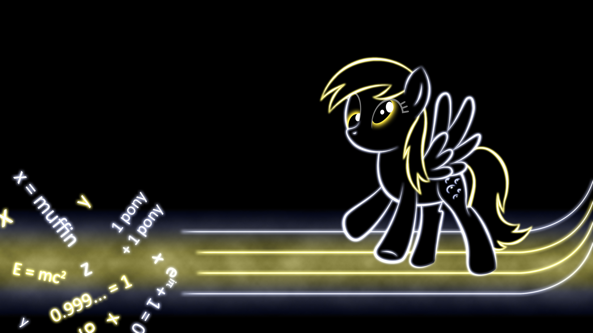 My Little Pony Friendship Is Magic Achtergrond Possibly Containing A Sign Entitled Derpy Hooves Glow