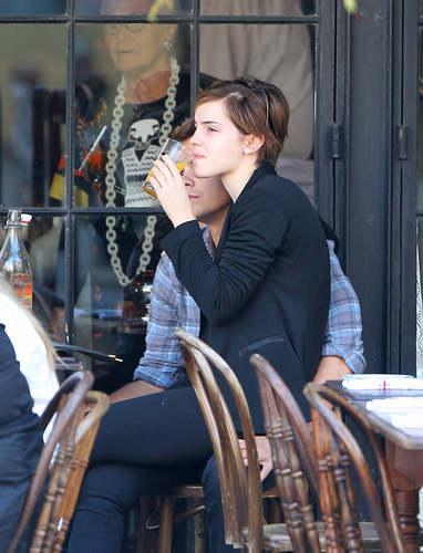 Emma having lunch in Manhattan [September 9]