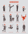 Famous Gingers - redheads fan art
