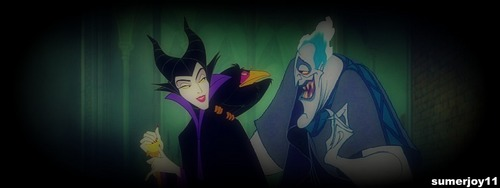 Hades and Maleficent - disney-crossover Photo