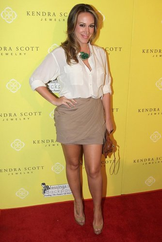 Haylie Duff wallpaper probably containing bare legs, a cocktail dress, and a dress called Haylie - Kendra Scott Jewelry Of Beverly Hills Grand Opening Benefiting - August 10, 2011