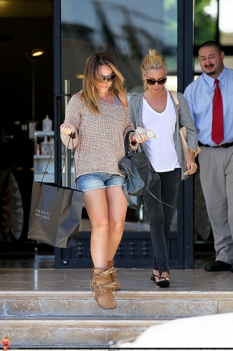 Haylie - Shopping in Barneys with Ashley - August 18, 2011