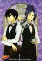 Hibari and Mukuro dressed as buttlers XD