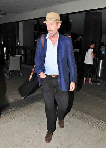 Hugh Laurie-LAX Airport -09.2011