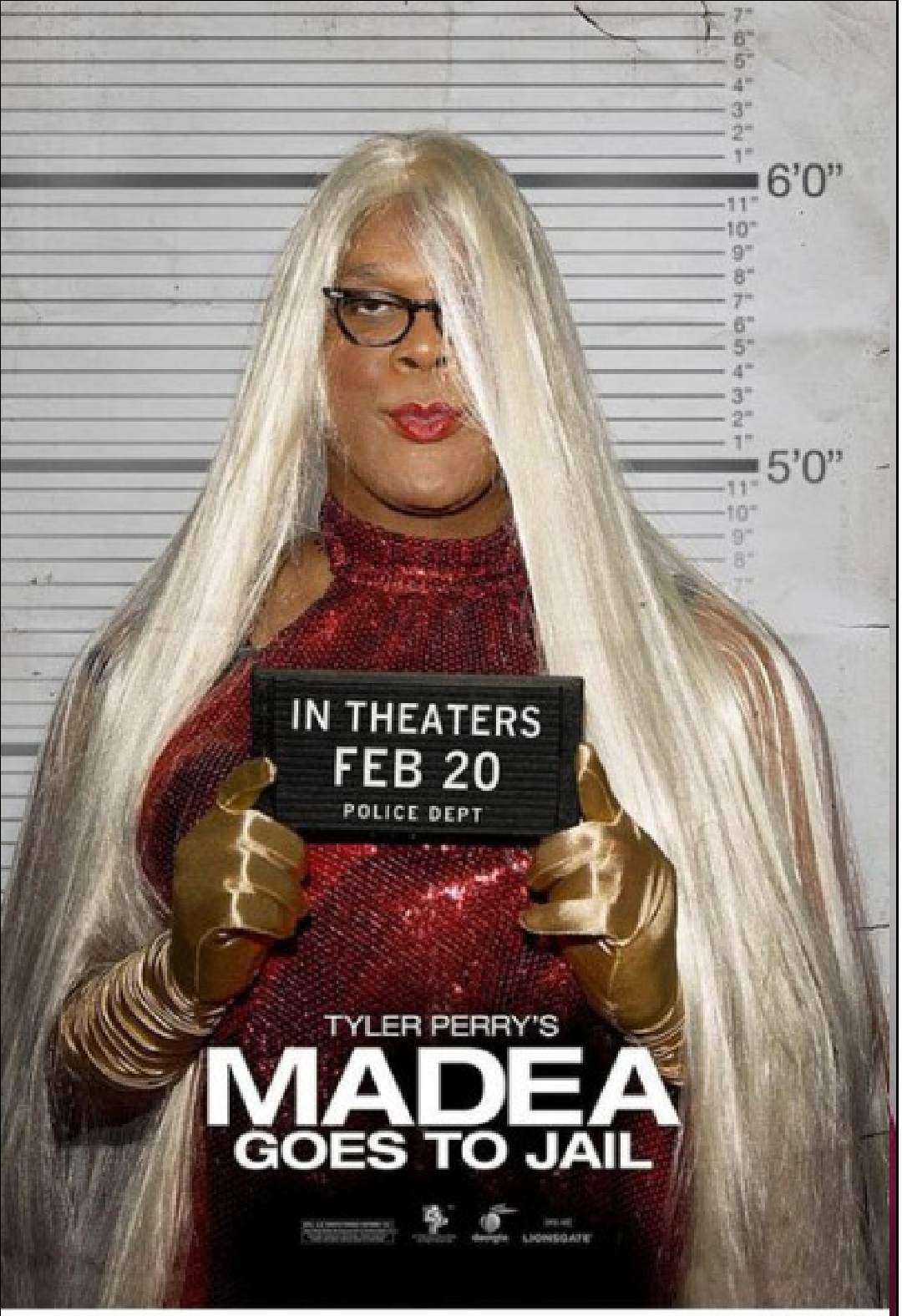 Shaved woman madea goes to jail