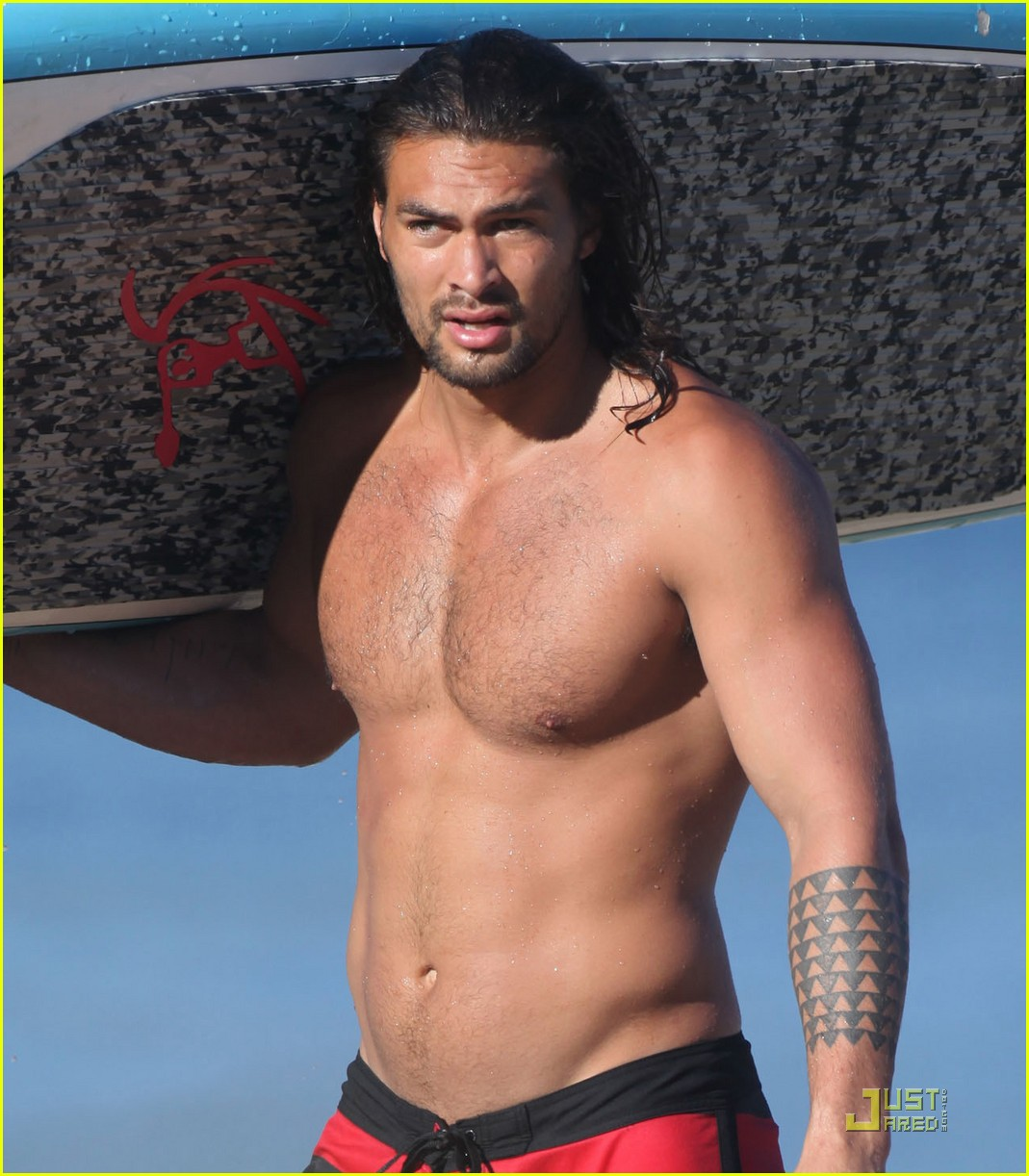 Jason Momoa: Shirtless ساحل سمندر, بیچ Six Pack!
