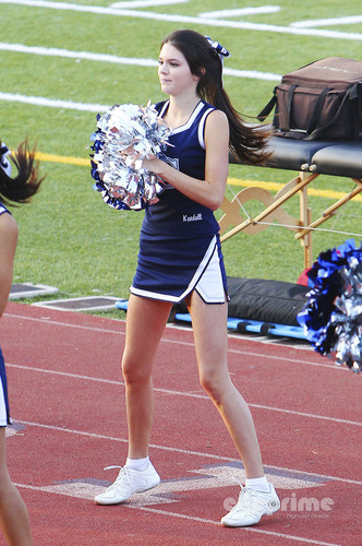 Kendall Jenner during her High School's football game on September 10, 2011.