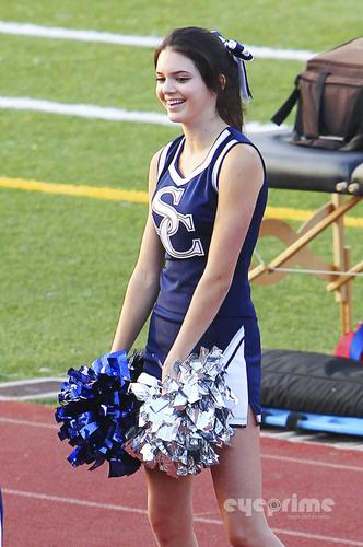 Kendall Jenner during her High School's football game on September 10, 2011.