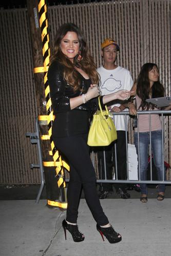 Khloe Kardashian Leaving Jimmy Kimmel Live