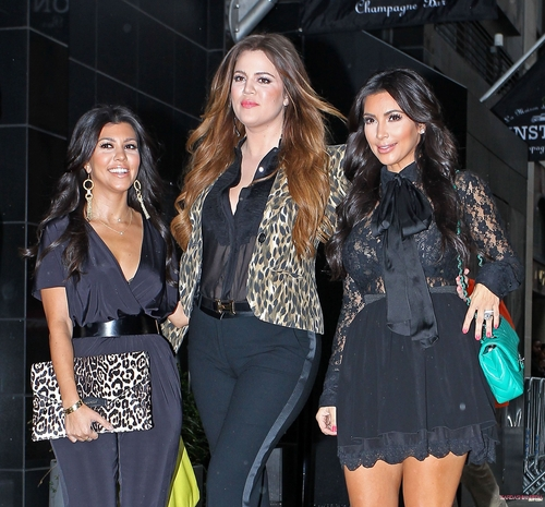 Kourtney, Kim and Khloe leave the Gansevoort hotel in New York - 06/09/2011