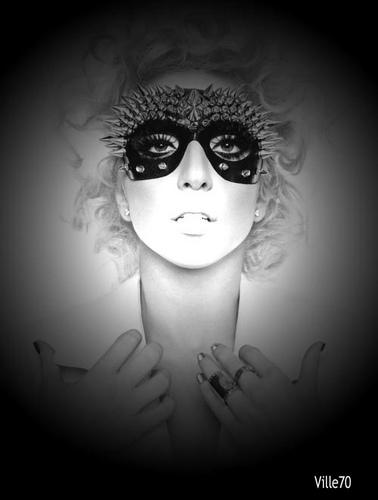 Lady Gaga B&W