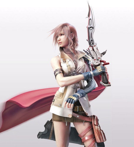 Lightning Artwork Final Fantasy XIII