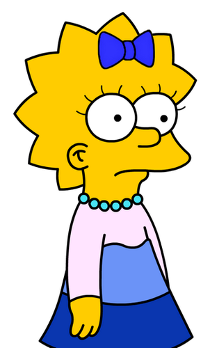 Maggie Simpson wallpaper with anime called Maggie's New Blue Dress