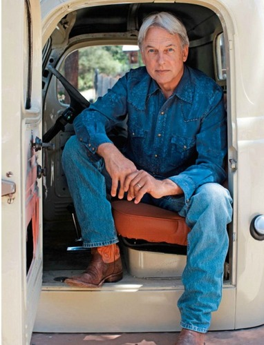 "Mark Harmon in ""Cowboys and Indians"" magazine photoshoot"