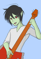 Marshall Lee playing guitar, gitaa