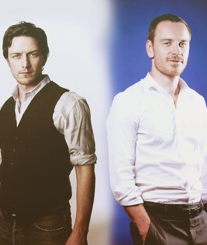 James McAvoy and Michael Fassbender wallpaper titled McFassy!