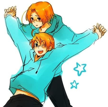 My Hetalia Family RP wallpaper probably containing anime entitled Me and my brother~ ^^